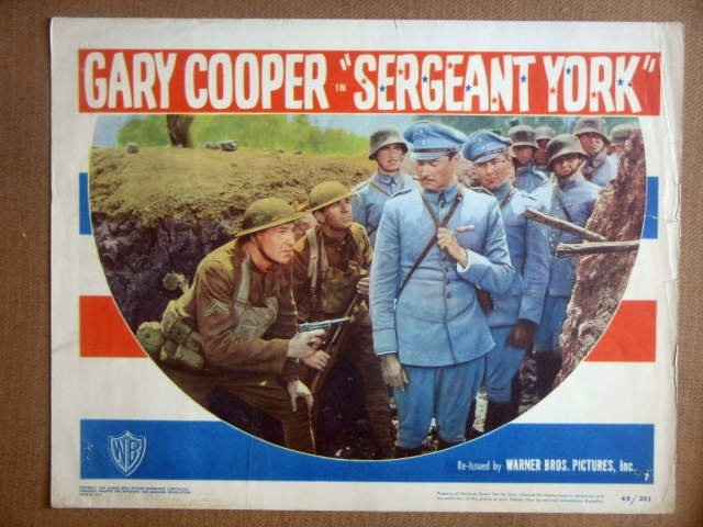 HL21 Sergeant York GARY COOPER 1949 Lobby Card