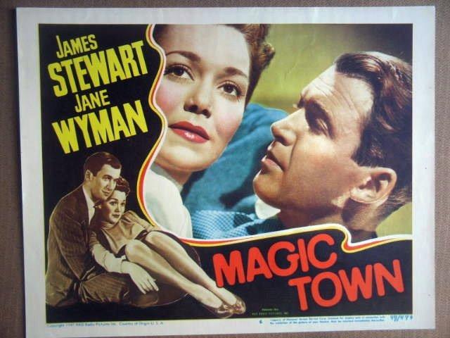 HM22 Magic Town JAMES STEWART/JANE WYMAN Lobby Card