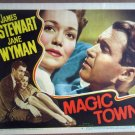 HM22 Magic Town JAMES STEWART/JANE WYMAN Lobby Card