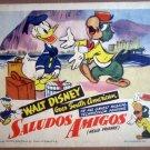 HN11 Walt Disney SALUDOS AMIGOS Donald Duck Lobby Card