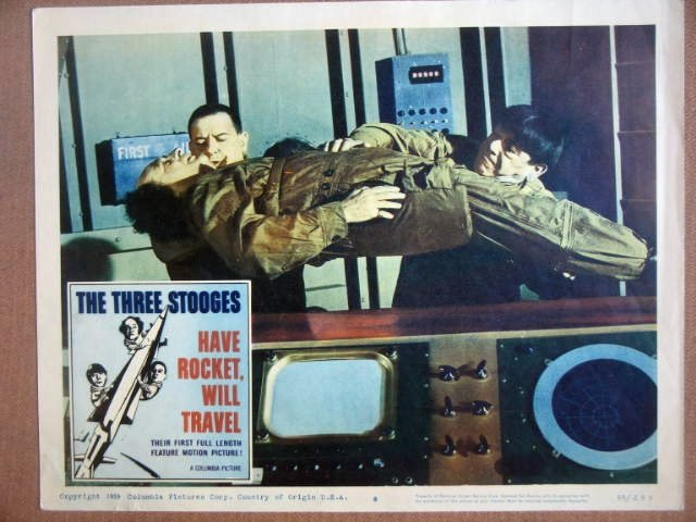 HF15 Have Rocket Will Travel THREE STOOGES Lobby Card