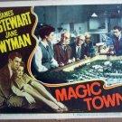 HG14 Magic Town JAMES STEWART/JANE WYMAN Lobby Card