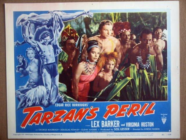 HG32 Tarzan's Peril LEX BARKER 1951 Lobby Card