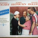 HH28 Sabrina AUDREY HEPBURN Original 1954  Lobby Card