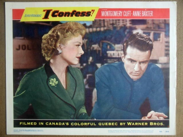 HJ12 I Confess MONTGOMERY CLIFT/HITCHCOCK Lobby Card