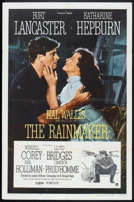 HM35 Rainmaker KATHARINE HEPBURN One Sheet Poster