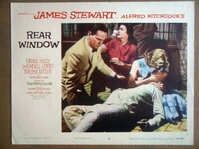 HN09 Rear Window GRACE KELLY/JAMES STEWART Lobby Card
