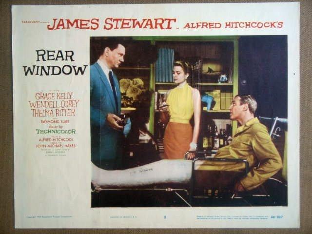HN10 Rear Window GRACE KELLY/JAMES STEWART Lobby Card