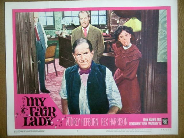 HF19 My Fair Lady AUDREY HEPBURN/HARRISON Lobby Card