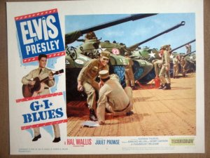 HG10 G.I. Blues ELVIS PRESLEY Original 1960  Lobby Card