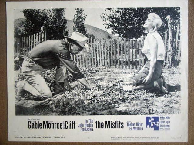 HG16 Misfits MARILYN MONROE/CLARK GABLE Lobby Card