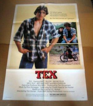 HL04 Tex MATT DILLON Original 1982 One Sheet Poster