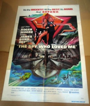 HL05 Spy Who Love Me ROGER MOORE One Sheet Poster