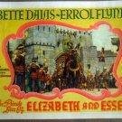 HO22 Elizabeth & Essex ERROL FLYNN 1939 Lobby Card