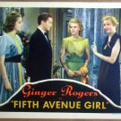HPO9 Fifth Avenue Girl GINGER ROGERS 1939 Lobby Card