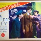 HP14 Gilded Lily CALUDETTE COLBERT/R MILLAND Lobby Card