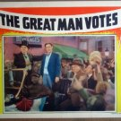 HP15 Great Man Votes JOHN BARRYMORE 1939 Lobby Card