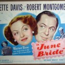 HP19 June Bride BETTE DAVIS/MONTGOMERY TITLE Lobby Card