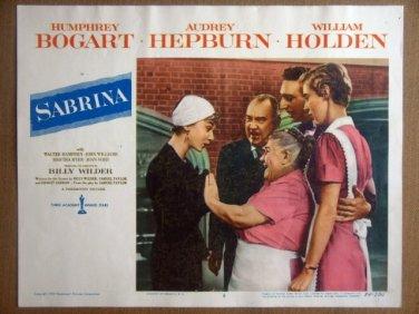 HP24 Sabrina AUDREY HEPBURN/H BOGART Lobby Card