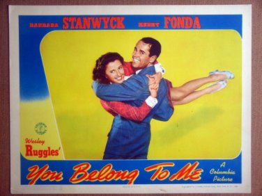 HP30 You Belong To Me BARBARA STANWYCK/FONDA Lobby Card