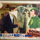 HQ05 Double Wedding MYRNA LOY/WM POWELL Lobby Card