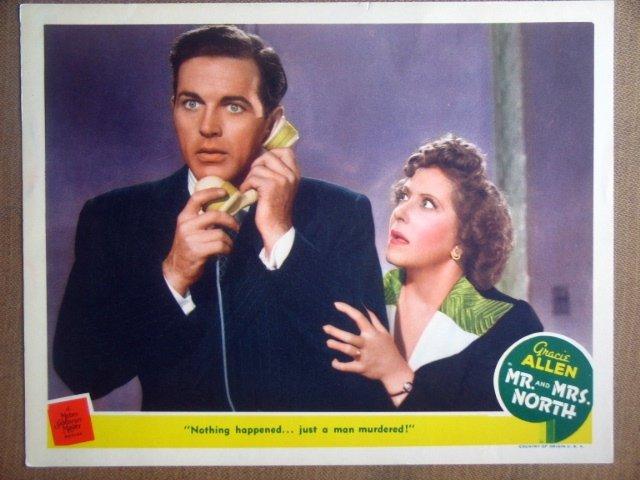 HQ13 Mr. & Mrs. North GRACIE ALLEN Portrait Lobby Card