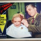 HQ18 She Loves Me Not BING CROSBY/M HOPKINS Lobby Card