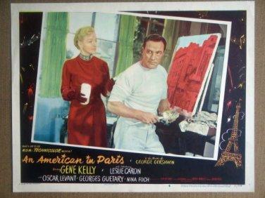 HR02 American In Paris GENE KELLY/NINA FOCH Lobby Card