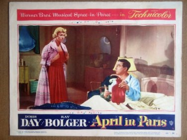 HR03 April In Paris DORIS DAY/RAY BOLGER Lobby Card