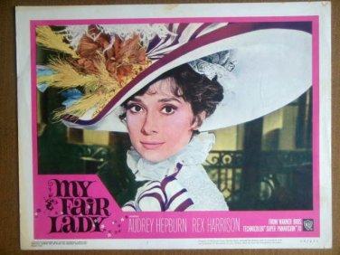 HR15 My Fair Lady AUDREY HEPBURN Portrait Lobby Card