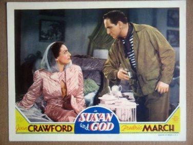 HS25 Susan & God JOAN CRAWFORD/FREDRIC MARCH Lobby Card