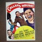 HT06 College Holiday JACK BENNY/BURNS & ALLEN Midget Window Card