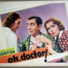 HT17 Oh, Doctor EVE ARDEN/EDWARD EVERETT HORTON Lobby Card