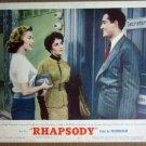 HT21 Rhapsody  ELIZABETH TAYLOR/VITTORIO GASSMAN Lobby Card