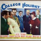 HU14 College Holliday JACK BENNY/MARTHA RAYE Lobby Card