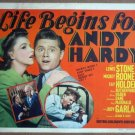 HU23 Life Begins For Andy Hardy JUDY GARLAND Title Lobby Card