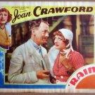 HU30 Rain JOAN CRAWFORD Original 1937 Lobby Card