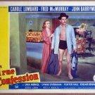 HU33 True Confessions CAROLE LOMBARD/Fred MacMURRAY Lobby Card