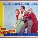 HU34 True Confessions CAROLE LOMBARD/Fred MacMURRAY Lobby Card
