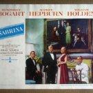 HV22 Sabrina HUMPHREY BOGART/WILLIAM HOLDEN Original 1954 Lobby Card
