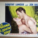 HW07 Aloma Of The South Seas DOROTHY LAMOUR/JON HALL Portrait Lobby Card