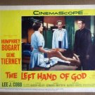HW18 Left Hand Of God HUMPHREY BOGART/GENE TIERNEY 1955 Lobby Card