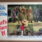 HW19 Let's Face It BOB HOPE/BETTY HUTTON Original 1943 Lobby Card