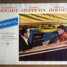 HW22 Sabrina AUDREY HEPBURN/HUMPHREY BOGART 1954 Lobby Card