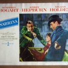 HW22 Sabrina AUDREY HEPBURN/HUMPHREY BOGART/WILLIAM HOLDEN 1954 Lobby Card