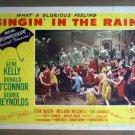 HW23 Singin' In The Rain GENE KELLY Original 1952 Lobby Card