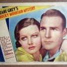 HY16 Rocky Mountain Mystery RANDOLPH SCOTT/ANN SHERIDAN Portrait Lobby Card