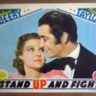 HY20 Stand up And Fight ROBERT TAYLOR Original 1939 Portrait Lobby Card