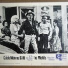 HZ11 Misfits MARILYN MONROE/CLARK GABLE/MONTGOMERY CLIFT Lobby Card