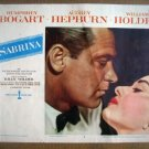 IA16 Sabrina AUDREY HEPBURN/WILLIAM HOLDEN 1954 Portrait Lobby Card